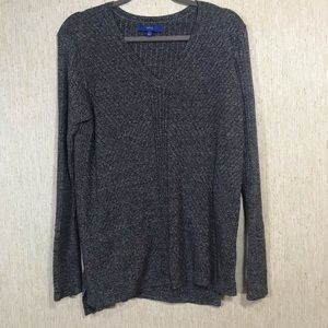 APT 9 Ribbed Textured V-Neck Sweater, Size L